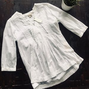 ANTHROPOLOGIE Holding Horses White Peasant Blouse